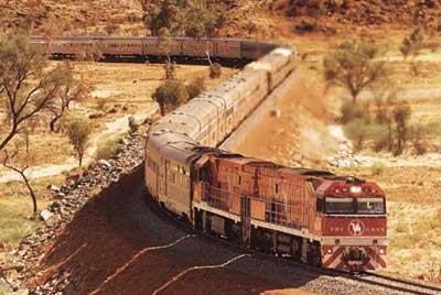 The Ghan Darwin bis Adelaide